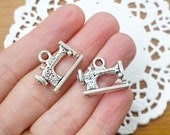 Charms for Crafting Accessories - Antique Sewing Machine - FOUR Pieces