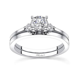 Barkev's White gold diamond engagement ring set   7593S