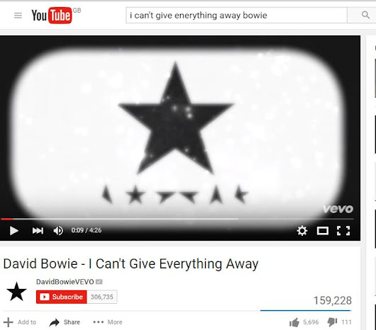 Watch This: David Bowie's 'I Can't Give Everything Away' Gets Music Video – : Rare & Vintage Records, CDs & Memorabilia