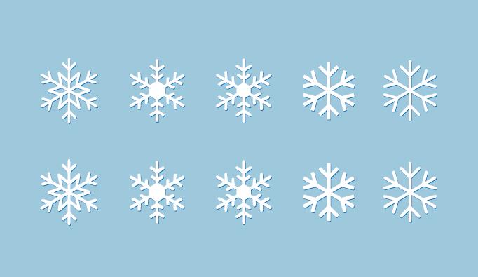シンプルな雪の結晶素材 フリー素材 ブログ