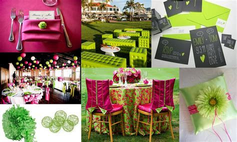decorate table behind wedding arch   Lime Green and