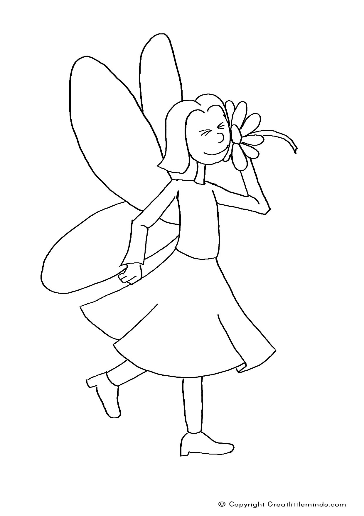 Easy Fairy Pages Coloring Pages