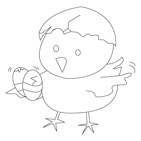 isimez: coloring pages easter chicks