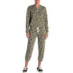 Alternative Printed Cropped Elastic Cuff Sweatpants