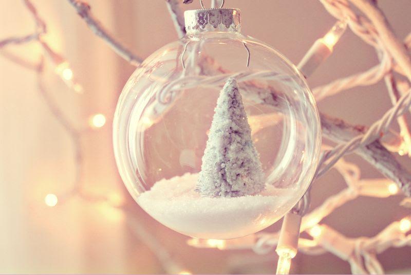snow scene ornament
