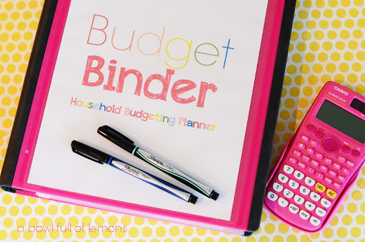 Budget Binder: Household Budgeting Planner | A Bowl Full of Lemons