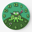 Frog Clock from Zazzle.com