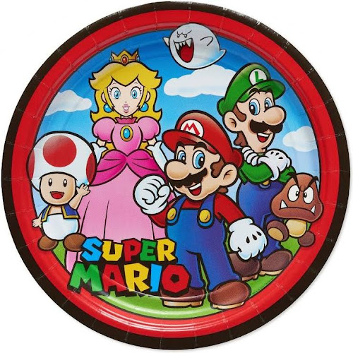 Google express american greetings super mario 8 count dinner large american greetings super mario 8 count dinner large plate m4hsunfo