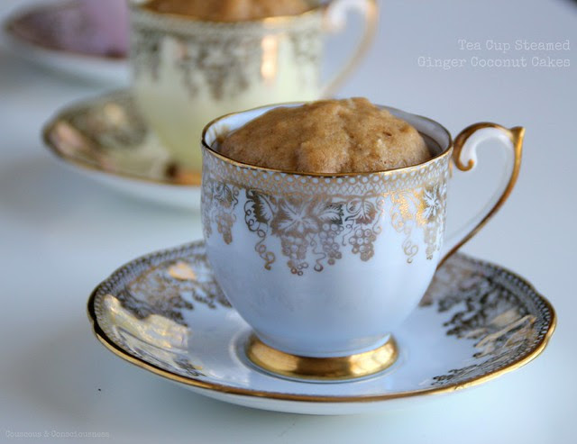 Tea Cup Steamed Ginger Coconut Cakes 2
