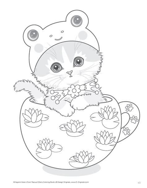 amazoncom teacup kittens coloring book design originals