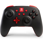 Power A Enhanced Bluetooth Controller for Switch - Black with Red accents