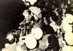 Camilo Cienfuegos durante su último discurso el 26 de octubre de 1959.
