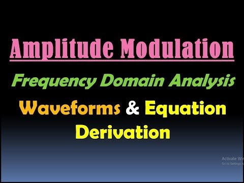 Engineering Made Easy: FREQUENCY SPECTRUM OF AMPLITUDE