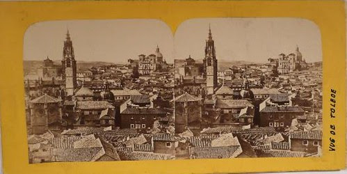 Fotografía estereoscópica de Toledo por Gaudin