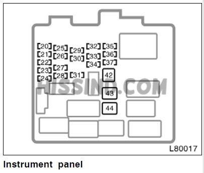 1998 Toyotum Camry Fuse Box Diagram