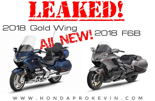 All-NEW 2018 Honda Gold Wing & F6B Pictures Leaked = Loads of Changes!
