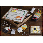 Monopoly and Clue Deluxe Vintage 2-in-1 Wood Game Collection Set