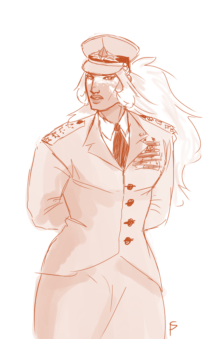 human au where jasp is a general in the army leggo