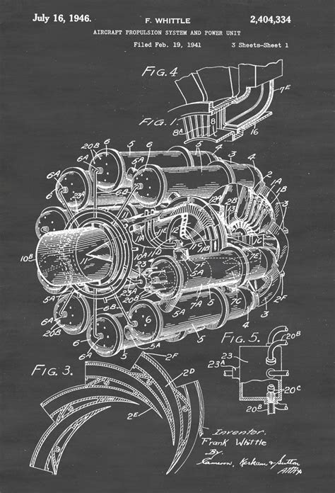 Aircraft Propulsion Patent - Vintage Aviation Art