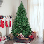 6' Premium Artificial Christmas Pine Tree with Solid Metal Legs, 1000 Tips, Full