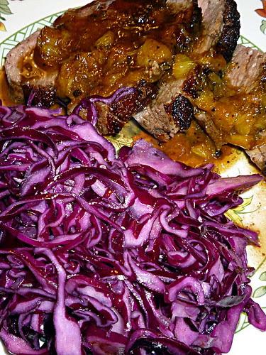 Rotkohlsalat mit Entenbrust