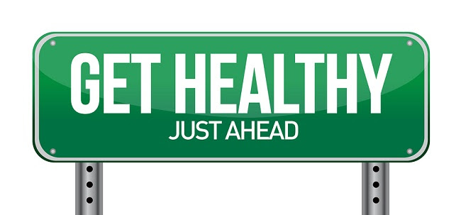 Get Healthy Green Road Sign