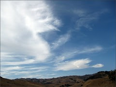Late afternoon sky at the Fiscalini Ranch