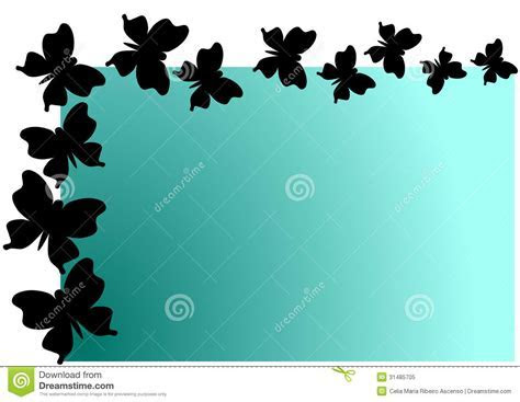 Flying Butterflies Shadow Invitation Card Royalty Free