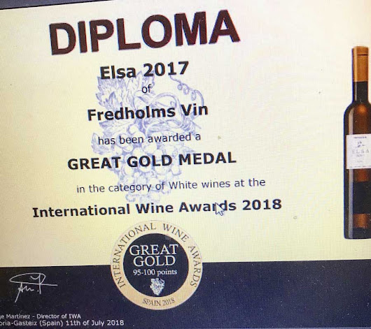 Fredholms Vingård (Winery) in Scania wins a Great Gold Medal in Rioja | BKWine Magazine |