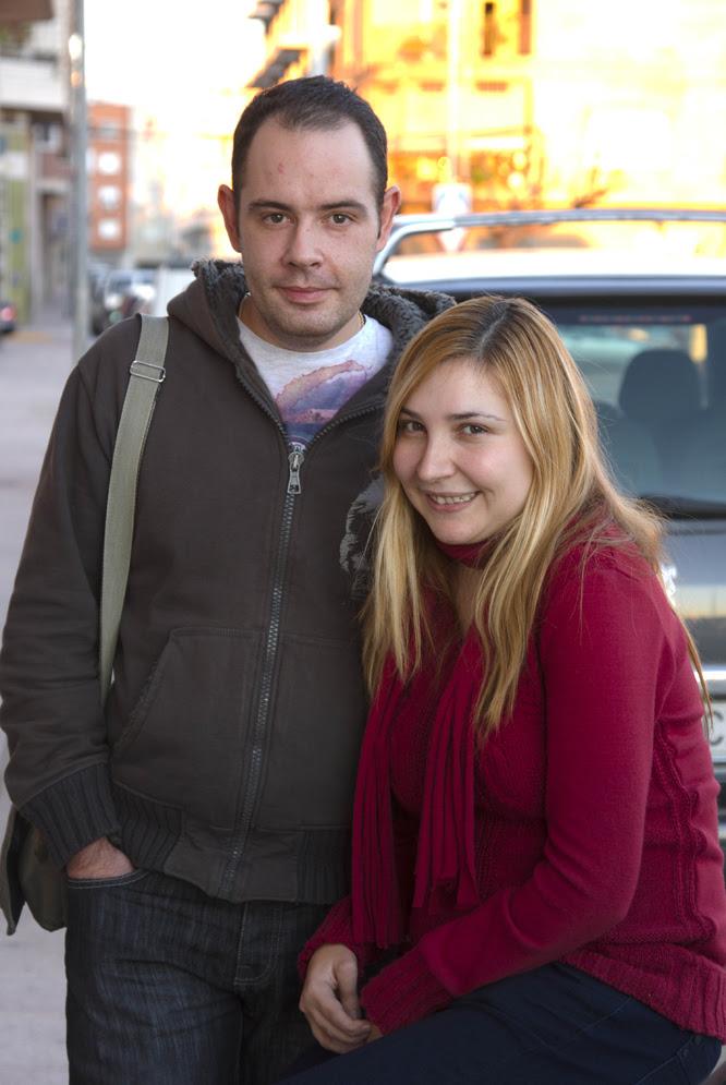 Pilar Pardo y su novio