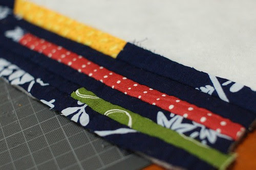 How to make a string quilt pouch 6