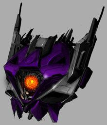 An artist's concept of Shockwave's head in TRANSFORMERS 3.