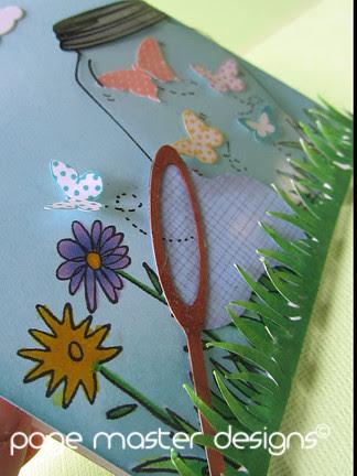 Butterfly jar grass