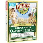 Earth's Best Organic Whole Grain Oatmeal Cereal 8 oz.