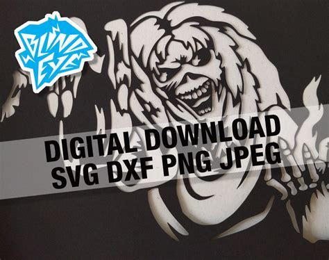 Eddie Iron Maiden Cutting File, Silhouette, Cricut, SVG