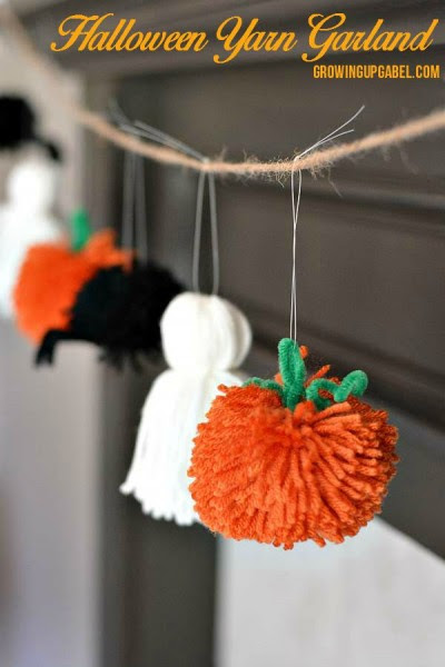Easy-Halloween-Garland-from-Yarn