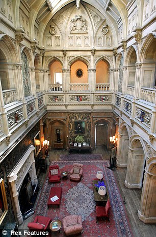 Interior of Highclere Castle