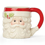 Hosting the holidays santa figural mug by lenox