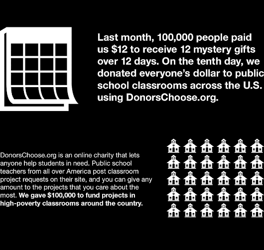 2013 DonorsChoose.org classroom shopping spree | Cards Against Humanity