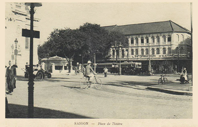 Saigon - Place du Théâtre with tram