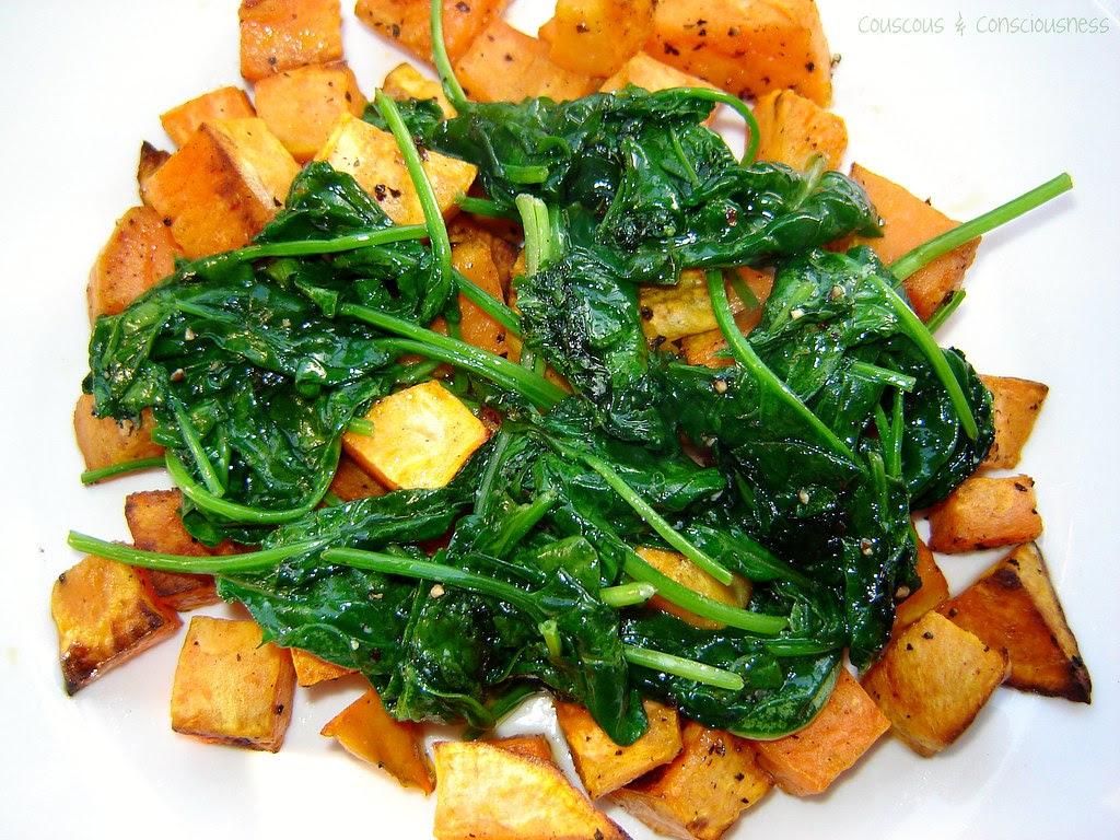 Scallops with Sweet Potato, Spinach & Vanilla Saffron Sauce 2