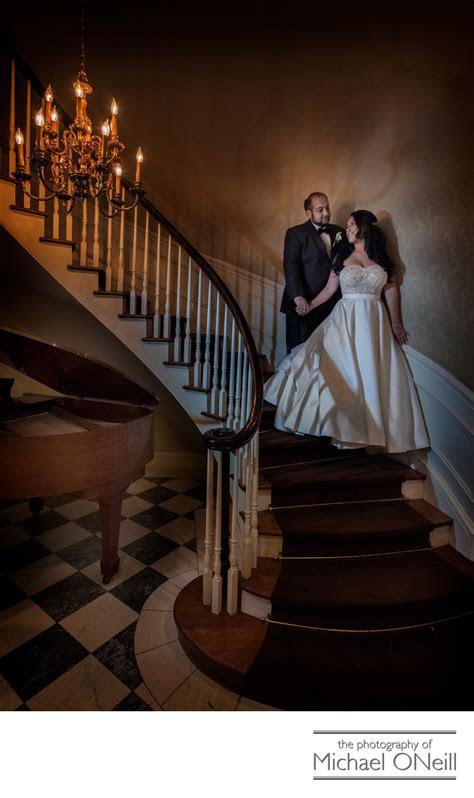royalton mansion roslyn li wedding  staircase