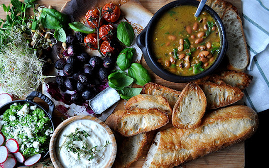 Coconut & Bean Soup with Crostini Bar