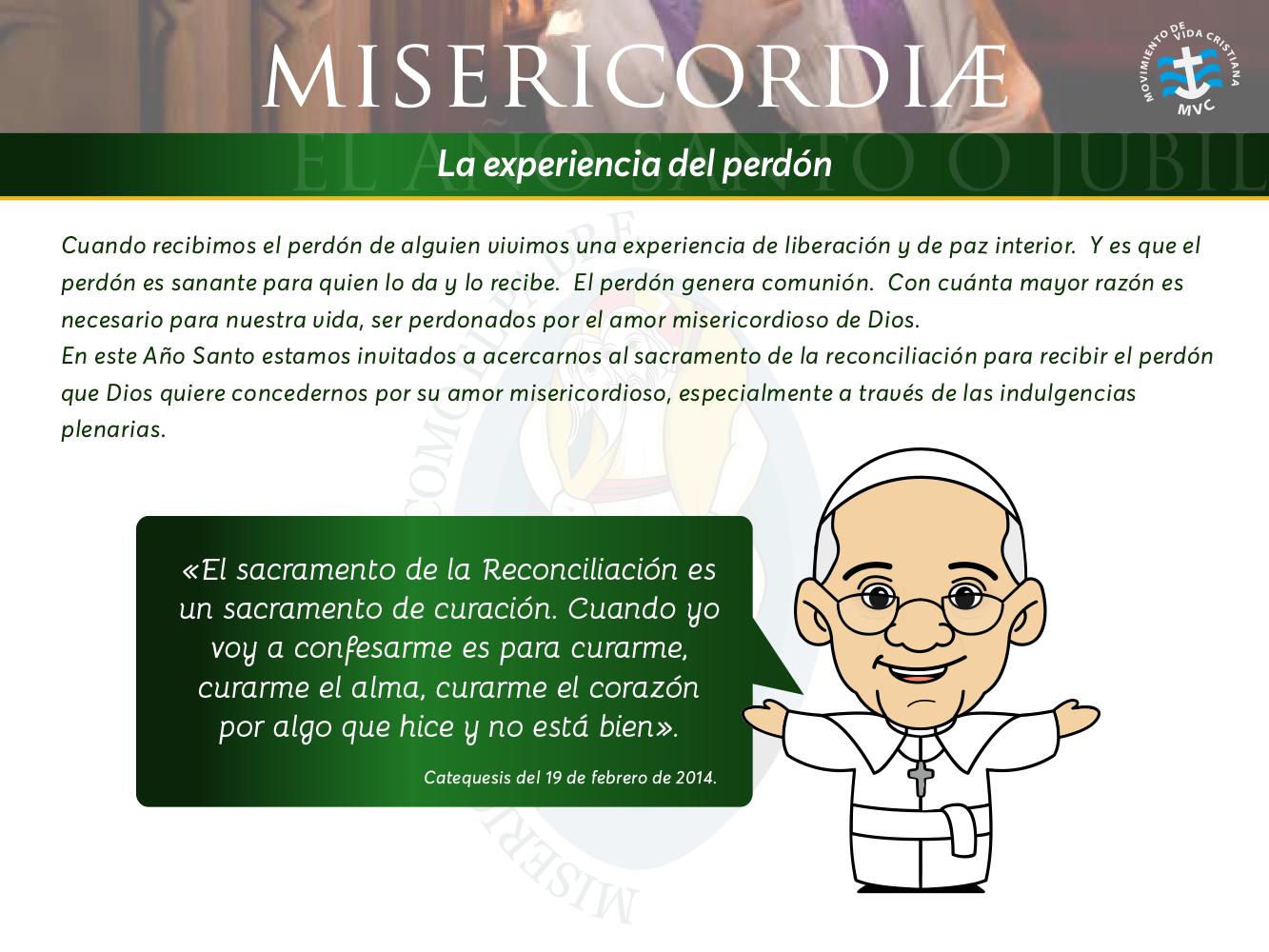 Misericordiae La Experiencia Del Perdon Mvc