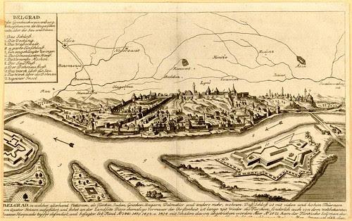 Beograd - pogled sa ugarske strane, 1700-1710 (artist uknown)