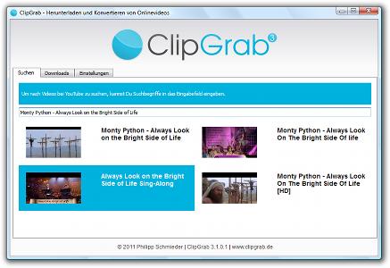 Télécharger des vidéos en ligne grace à ClipGrab