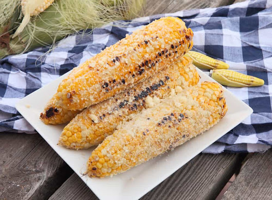 Grilled Parmesan Corn - 365 Days of Easy Recipes