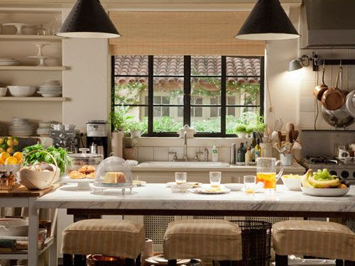 It's Complicated Kitchen via House Beautiful