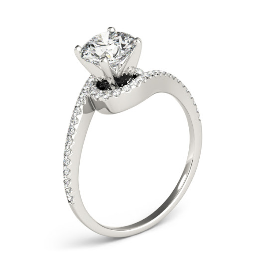 Engagement Ring -Petite Swirl Diamond Engagement Ring-ES2164