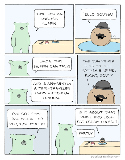 Poorly Drawn Lines – English Muffin